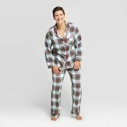 Women's Holiday Tartan Plaid Flannel Pajama Set - Wondershop™ White