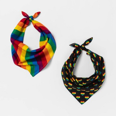 Pride Gender Inclusive Adult Rainbow Bandana 2pk