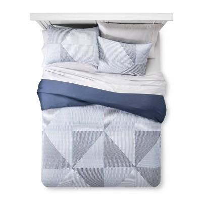 Blue Texture Stripe Duvet Cover Set (Full/Queen)3pc - Room Essentials™