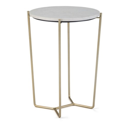 Dunlop Accent Table White/Gold - Wyndenhall - image 1 of 4