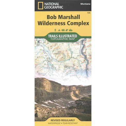 National Geographic Trails Illustrated Topographic Map Bob Marshall