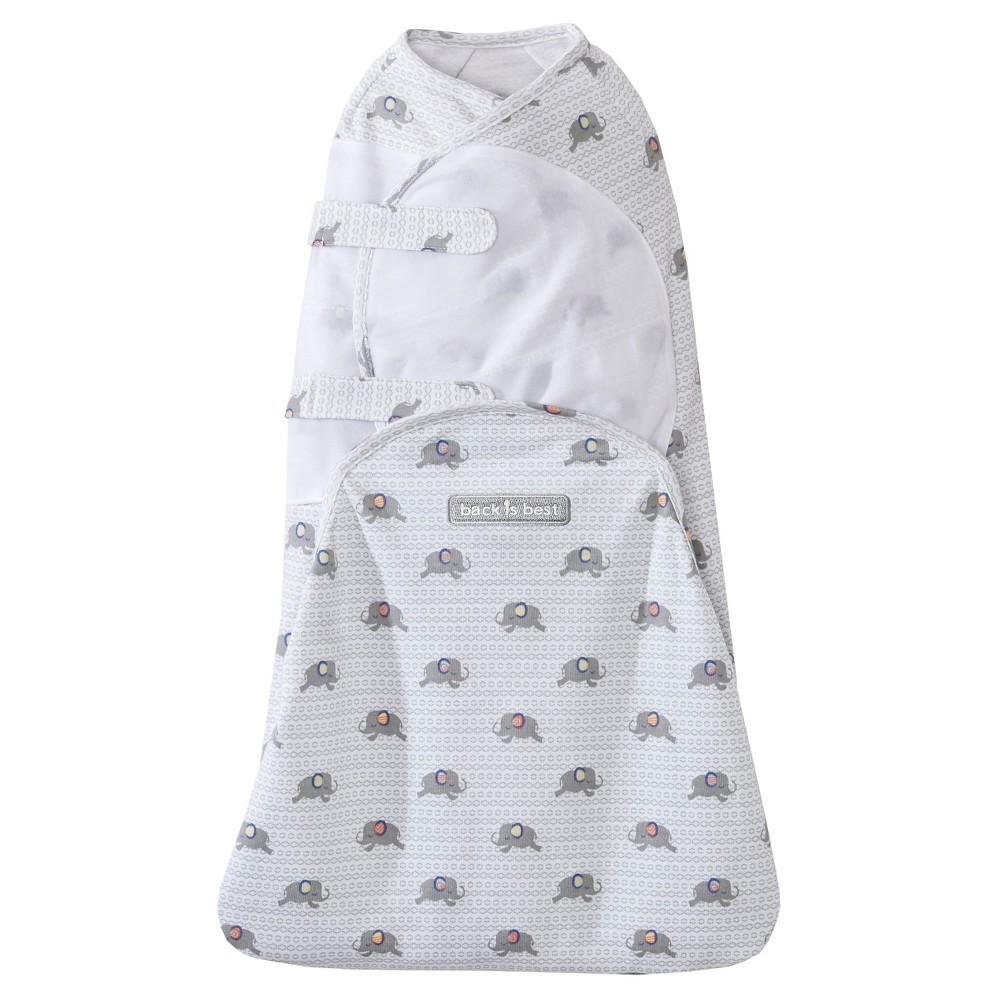 Halo SwaddleSure Adjustable Swaddle Wrap - Elephant - S, Gray
