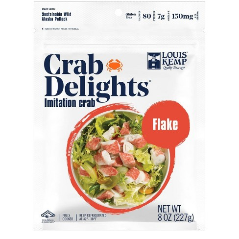 Louis Kemp Crab Delights Imitation Crab Flake Style - 8oz - image 1 of 3
