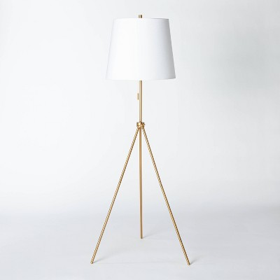 Metal Tripod Floor Lamp Brass (Includes LED Light Bulb)- Threshold™ designed with Studio McGee