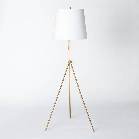 Metal Tripod Telescoping Floor Lamp