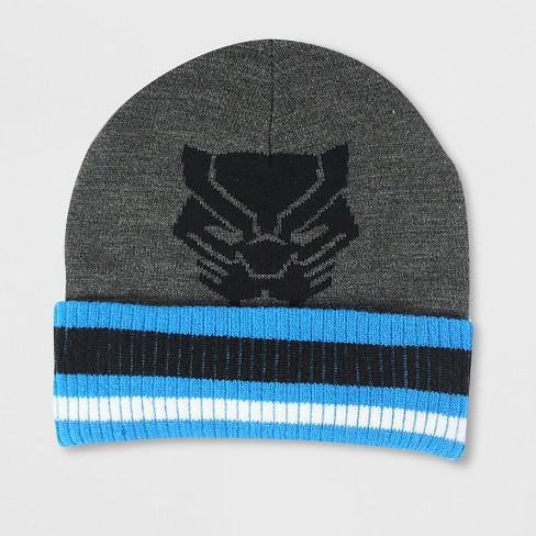 0ae23230076 Men s Black Panther Cuff Beanie - Heather Gray One Size   Target