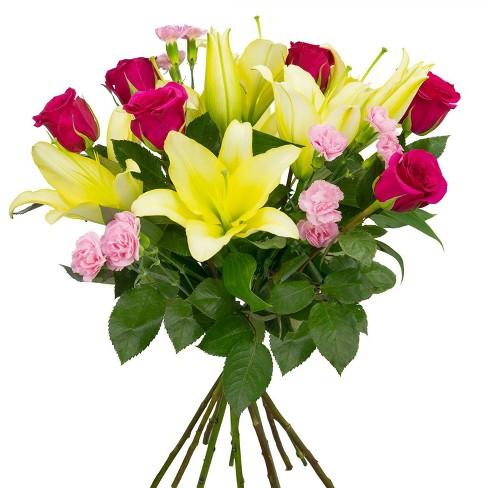Colour Republic Hot Pink Garden Rose Bouquet - image 1 of 4