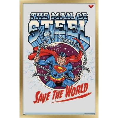 Trends International DC Comics Superman - Save the World Unframed Wall Poster Print