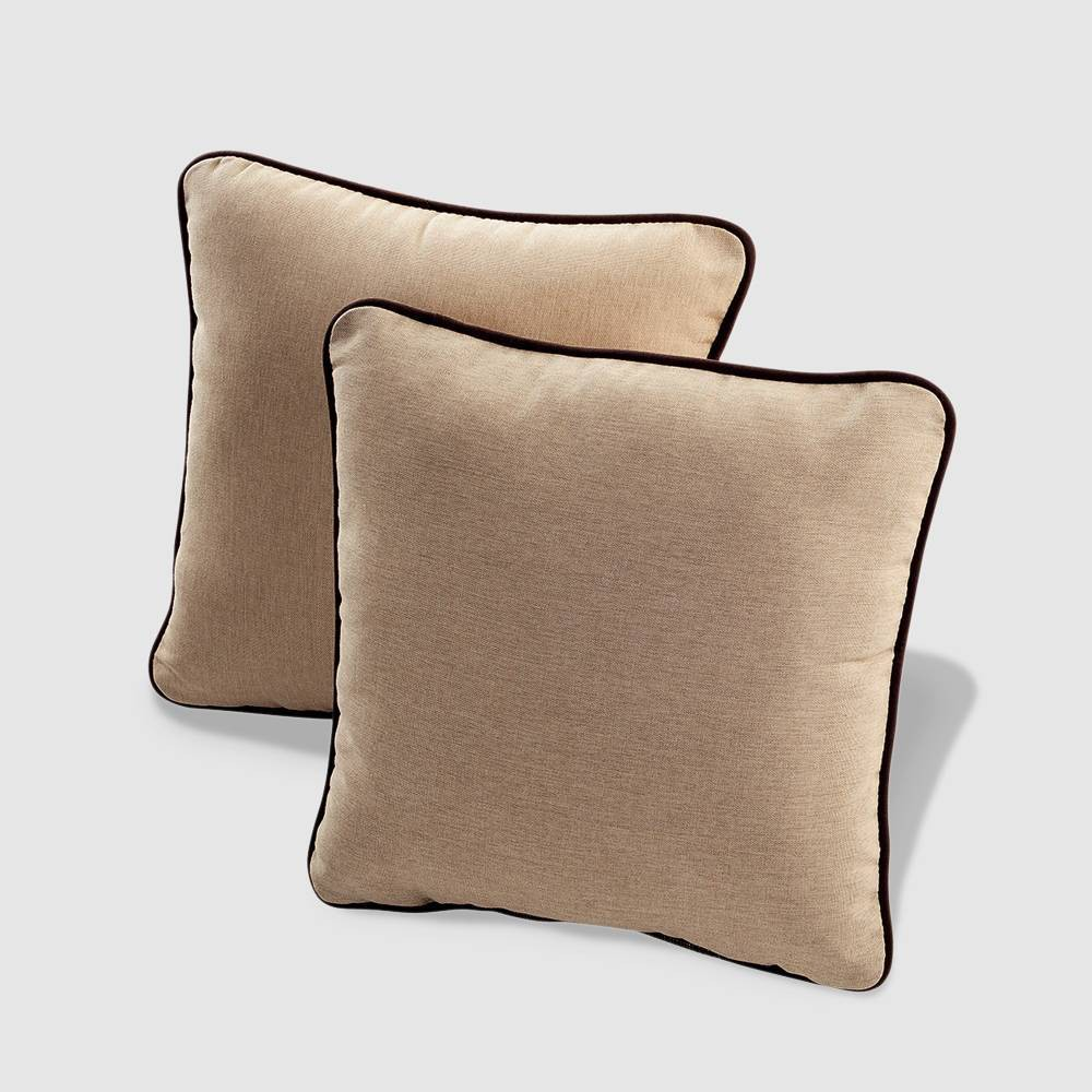 Rolston 2pk Outdoor Throw Pillow Beige Chocolate Haven Way
