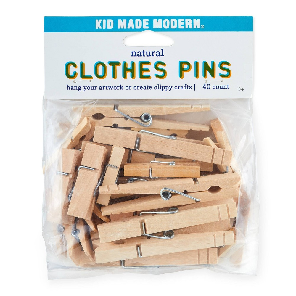 Image of Kid Made Modern 40ct Clothes Pins, Beige