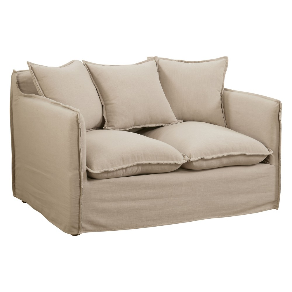 Iohomes Lazenby Transitional Welting Trim Loveseat Beige - Homes: Inside + Out