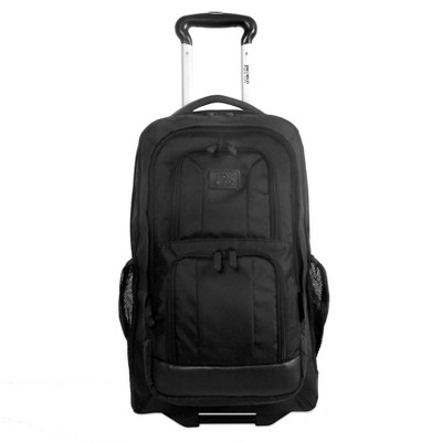 J World Dustin 13.5'' Rolling Backpack with Detachable Bag - Black