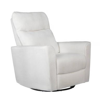 Karla Dubois Soho Swivel Accent Chair - White