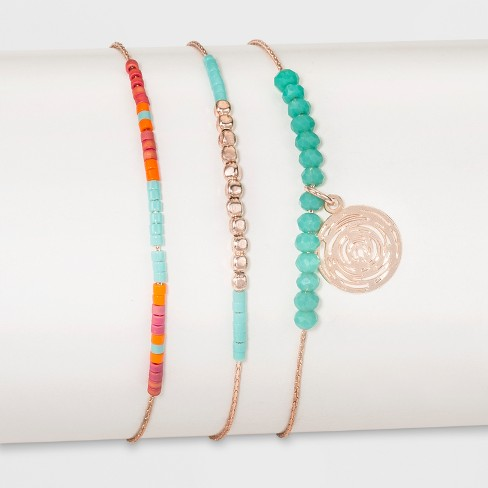 Three Piece Set with Beads and Round Disc Anklet - image 1 of 1