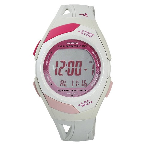 767e43992 Casio Women's 60-Lap Sports Watch - White (STR300-7) : Target