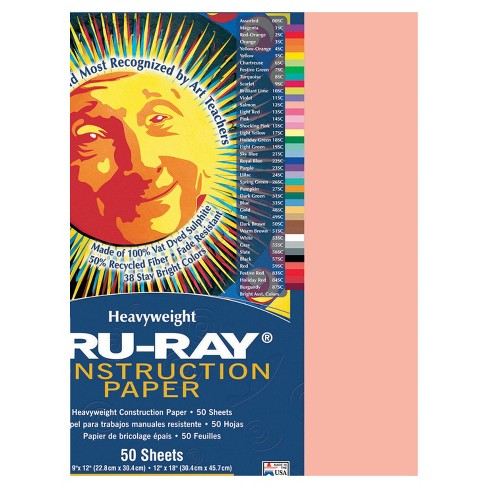 Tru-Ray Sulphite Construction Paper, 12 x 18 Inches, Salmon, 50 Sheets - image 1 of 1