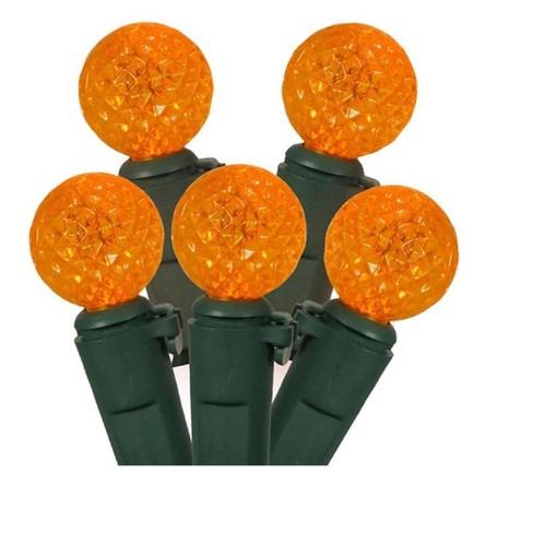 Brite Star 50ct G12 Berry Led String Lights Orange 16 6 Green Wire Target
