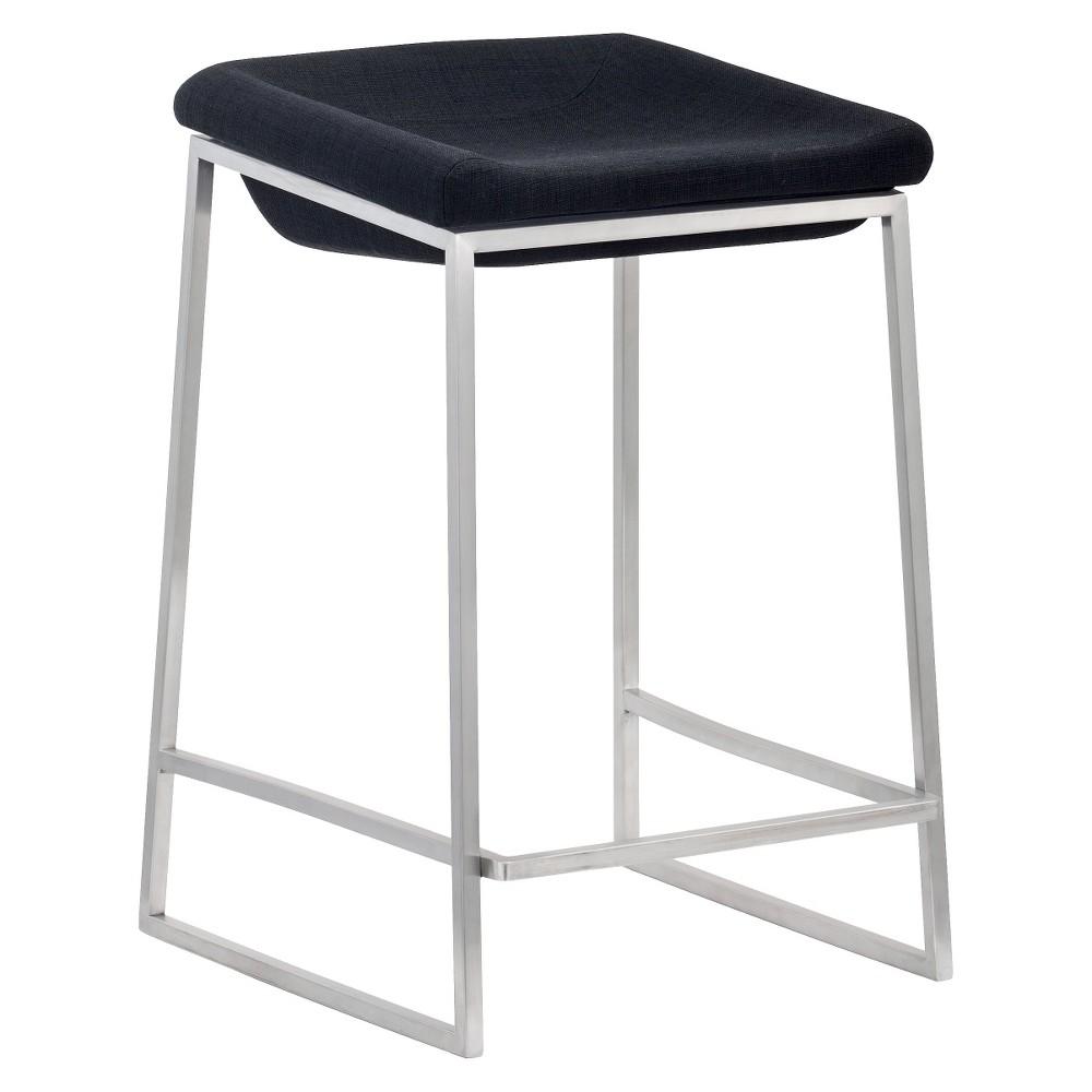 24Contemporary Sleek Modern Counter Chair - Dark Gray (Set of 2) - ZM Home