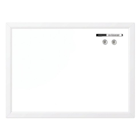 "Quartet 17"" x 23"" Magnetic Dry-Erase Board Curved Frame - White - image 1 of 1"