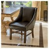 James Bonded Leather Dining Chair Wood/Brown - Christopher Knight Home - image 2 of 4