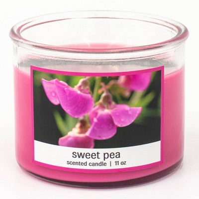 11oz Jar 3-Wick Sweet Pea Candle