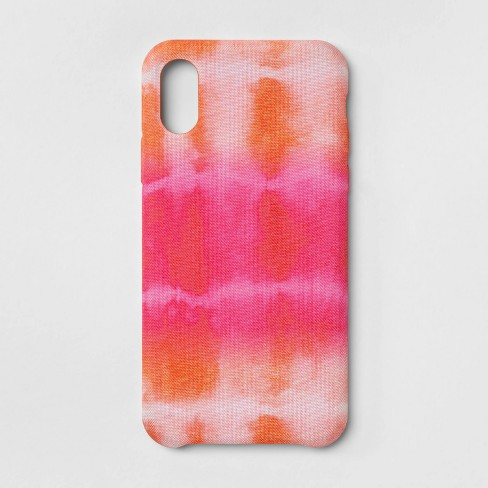 newest 42732 237a2 heyday™ Apple iPhone X/XS Tie Dye Case - Pink/Orange