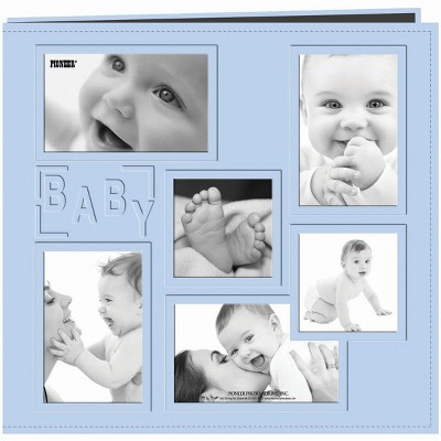 """Pioneer Embossed Collage Frame Post Bound Album 12""""X12"""""""