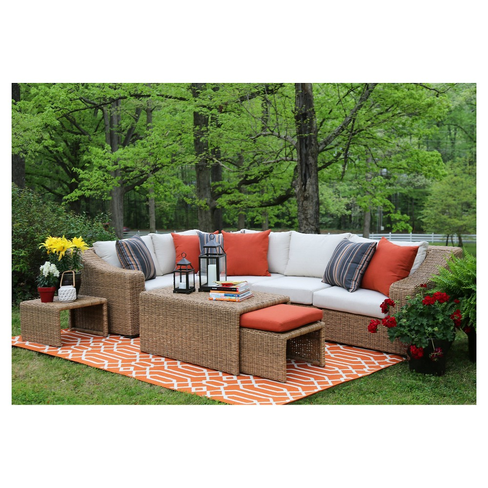 Image of Arizona 8-Piece Sectional with Sunbrella Fabric Vibrato - Parchment