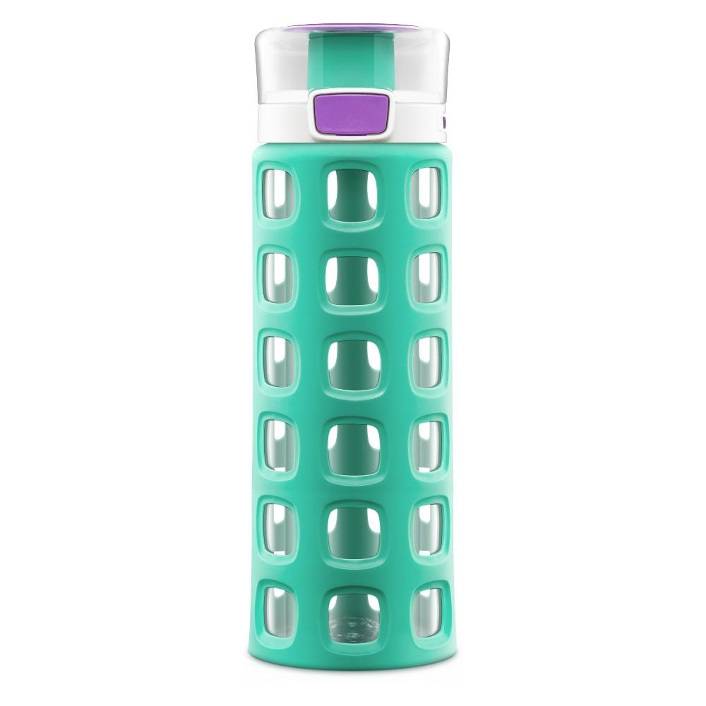 Image of Ello Dash 20oz Plastic Water Bottle Green/Purple