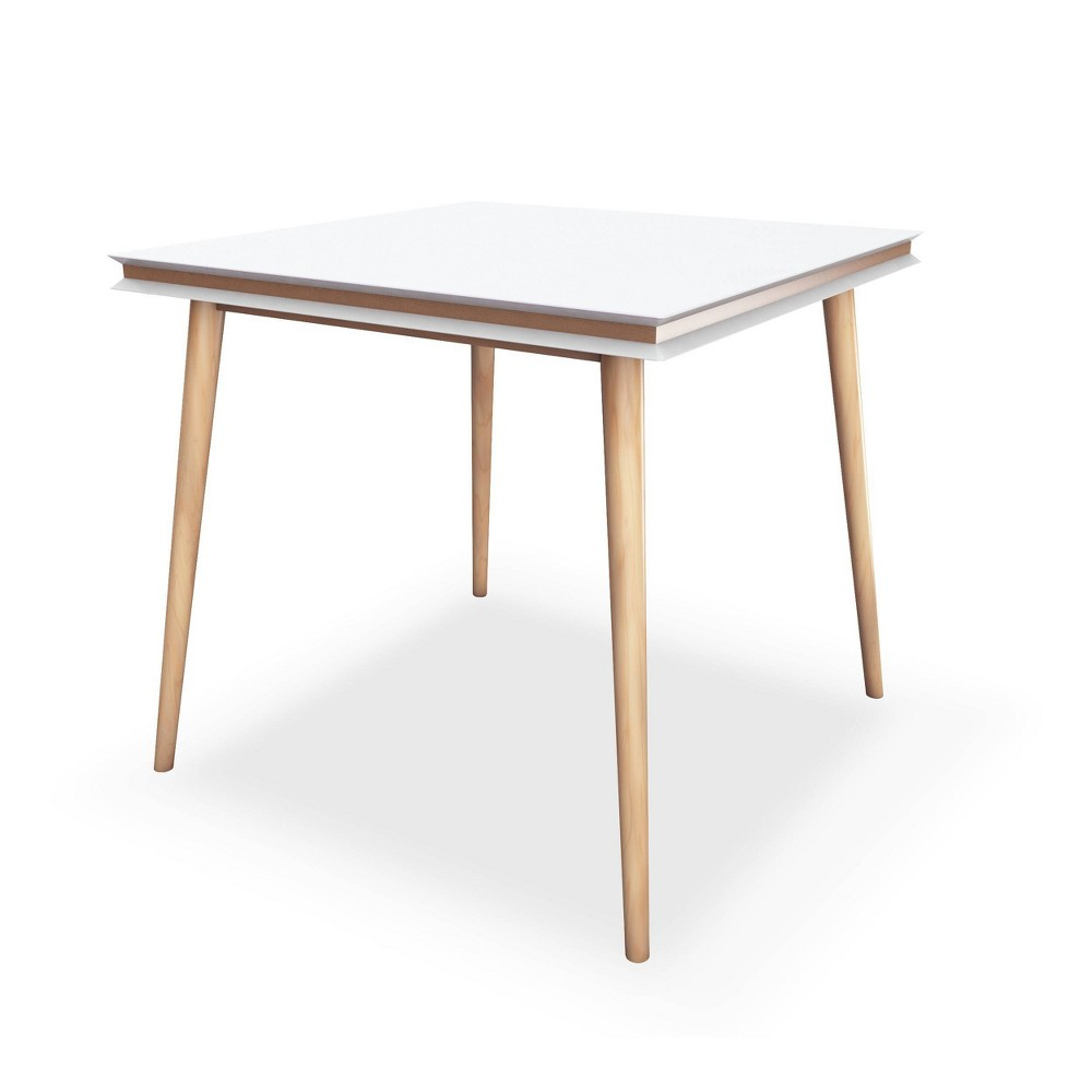 "Image of ""31.5"""" Blythe Square Dining Table White/Natural - Jamesdar, White Brown"""