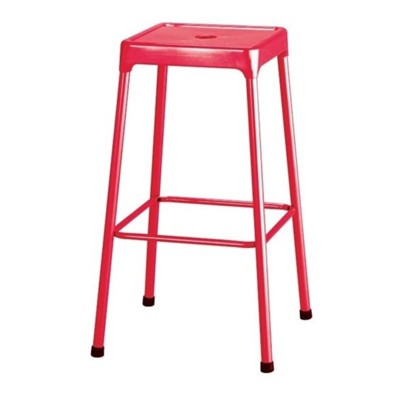 """Steel 29""""""""  Bar Stool in Red-Safco"""