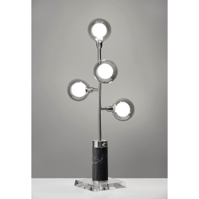 "28"" Calder LED Table Lamp (Includes Energy Efficient Light Bulb) Silver - Adesso"