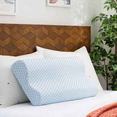 Standard Essentials AlwaysCool Memory Foam Contour Pillow - Linenspa