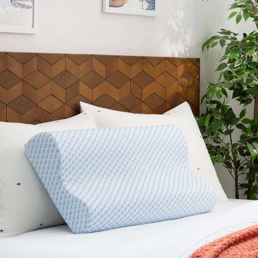 Queen Essentials Alwayscool Memory Foam Contour Pillow Linenspa