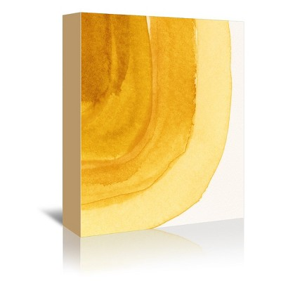 Americanflat Yellow Curves by Chaos & Wonder Design Canvas