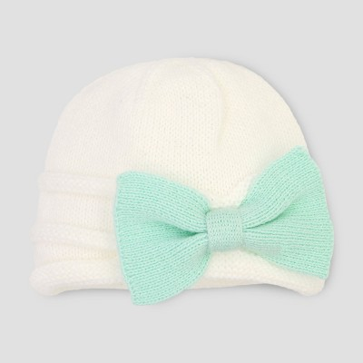 Baby Girls' Beanie - Cloud Island™ Ivory 0-6M