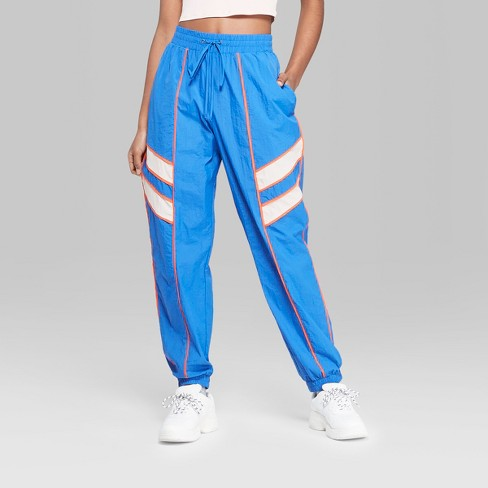 8067cd1620359a Women's High-Rise Retro Track Pants - Wild Fable™ Royal Blue S : Target