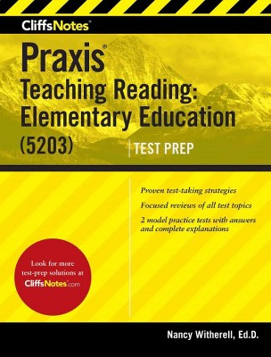 cliffsnotes praxis teaching reading elementary education 5203 rh target com John Deere 5203 Manual Avery 5203 Template for Word