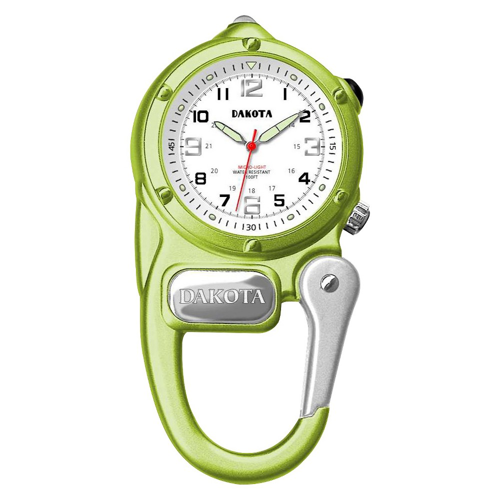 Image of Women's Dakota Mini Clip Microlight Watch - Lime, Size: Small, Green