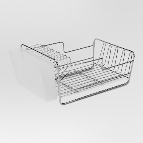 Dish Racks with Utensil Tray Matte Nickel Small - Threshold™ - image 1 of 3