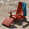 Manhattan Beach Adirondack Chair with Ottoman Rustic Red - highwood - image 3 of 4