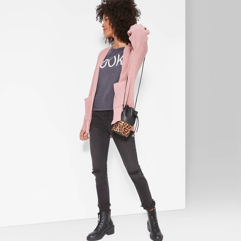 Women's Long Sleeve Open Front Oversized Chenille Cardigan - Wild Fable™ - image 1 of 3