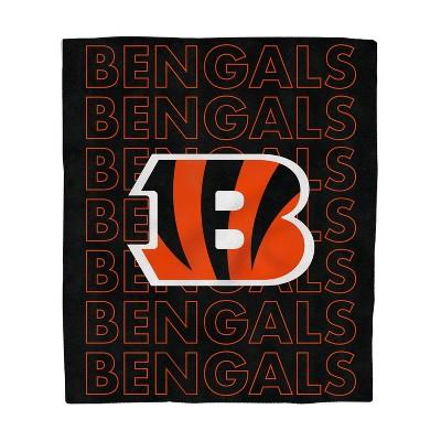 NFL Cincinnati Bengals Echo Team Wordmark Plush Blanket