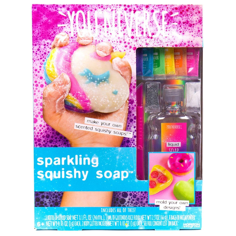 Image of YOUniverse 17pc Sparkling Squishy Soap Craft Activity Kit