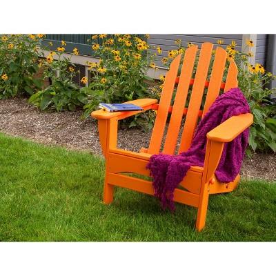 POLYWOOD® Classic Folding Patio Adirondack Chair   Orange : Target