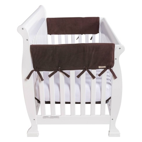 Trend Lab Set Of Two Fleece 27 Side Rail Cover For Convertible Crib Brown Target