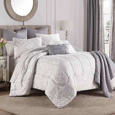Aria Comforter Set Gray - Martex