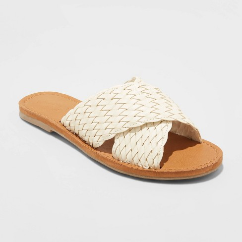 Women's Tabitha Woven Crossband Slide Sandals - Universal Thread™ - image 1 of 3
