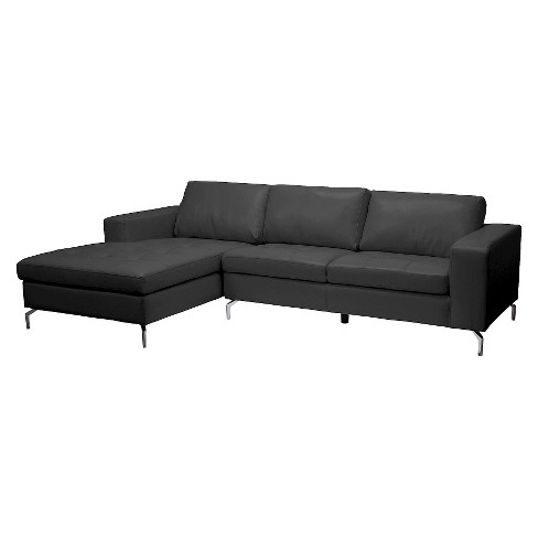 73 X 43 X 34 Inch Sectional Sofa - Baxton Studio - image 1 of 6