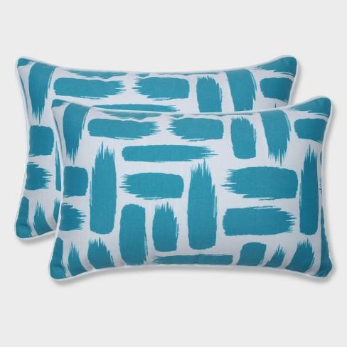 2pk Baja Turquoise Rectangular Throw Pillows Blue - Pillow Perfect - image 1 of 1